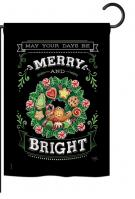 Merry & Bright Garden Flag