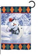 Snowman Golf Garden Flag