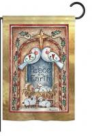 Peace on Earth Doves & Nativity Garden Flag