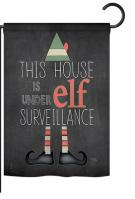 Elf Surveillance Garden Flag
