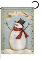 Let It Snow Happy Snowman Garden Flag