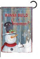 Build a Snowman Garden Flag