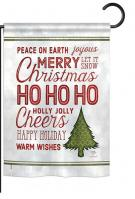 Christmas Wishes Words Garden Flag