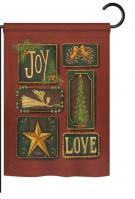 Joy and Love Garden Flag