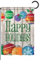 Colorful Ornament Holidays Garden Flag