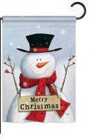 Joyful Snowman Christmas Garden Flag