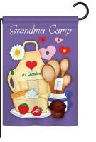 Grandma Camp Garden Flag