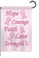 Hope, Faith, Courage Garden Flag