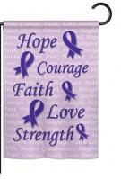 Hope, Faith, Courage (Purple) Garden Flag