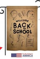 Welcome Back To School Garden Flag