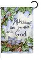 All Things Are Possible With God Garden Flag