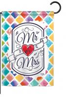 Mr & Mrs Garden Flag