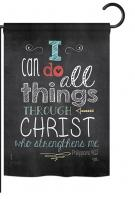 All Things Through Christ Garden Flag