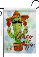 Mr Cactus Cinco de Mayo Garden Flag