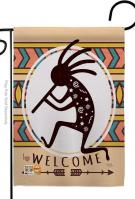 Welcome Kokopelli Dance Garden Flag
