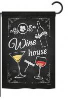 Wine House Garden Flag