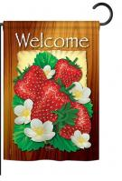 Welcome Strawberries Garden Flag