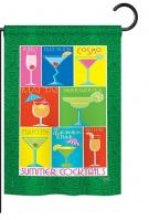 Summer Drinks Garden Flag