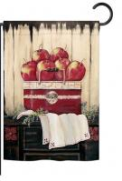 Ruby Red Country Apple Garden Flag