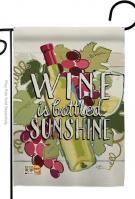 Wine In Sunshine Garden Flag
