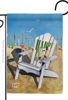 Beachside Happy Hour Garden Flag