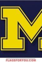 Michigan Wolverines 3x5 Double Sided Flag - 4 left
