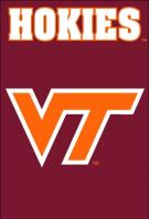 Virgina Tech Hokies Applique Banner Flag 44\