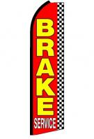 Brake Service Red Feather Flag 3\' x 11.5\'