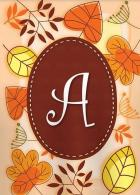 Autumn Monogram