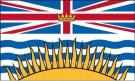 3\' x 5\' British Columbia High Wind, US Made Flag