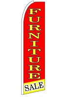 Furniture Sale (Red & Yellow) Feather Flag 3\' x 11.5\'