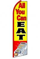 All You Can Eat Feather Flag 2.5\' x 11\'
