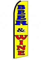 Beer & Wine Feather Flag 3\' x 11.5\'