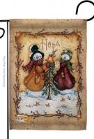 Christmas Hope Snowman Garden Flag