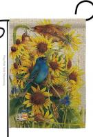 Spring Sunflower & Birds Garden Flag
