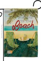 Welcome To The Beach Decorative Garden Flag