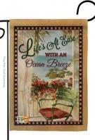 Life\'s At Ease With An Ocean Breeze Garden Flag