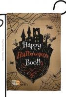 Happy Halloween Boo Garden Flag