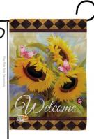 Welcome Sunflower Spring Garden Flag