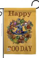 Happy Boo Day Garden Flag