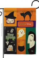 Halloween Trick Or Treat Garden Flag