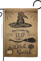 Flip My Witch Switch Garden Flag
