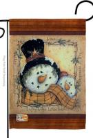 Enjoy Life Snowmen Garden Flag