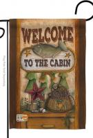 Welcome To The Cabin Decorative Garden Flag