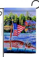 Better At The Lake Decorative Garden Flag