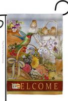 Welcome Spring Birds Decorative Garden Flag