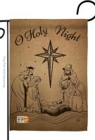 Holy Night Decorative Garden Flag