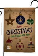 Joyful Christmas And New Year Garden Flag