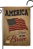 America Home Of The Brave Garden Flag