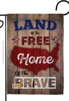 Land Of The Free, Home Brave Garden Flag